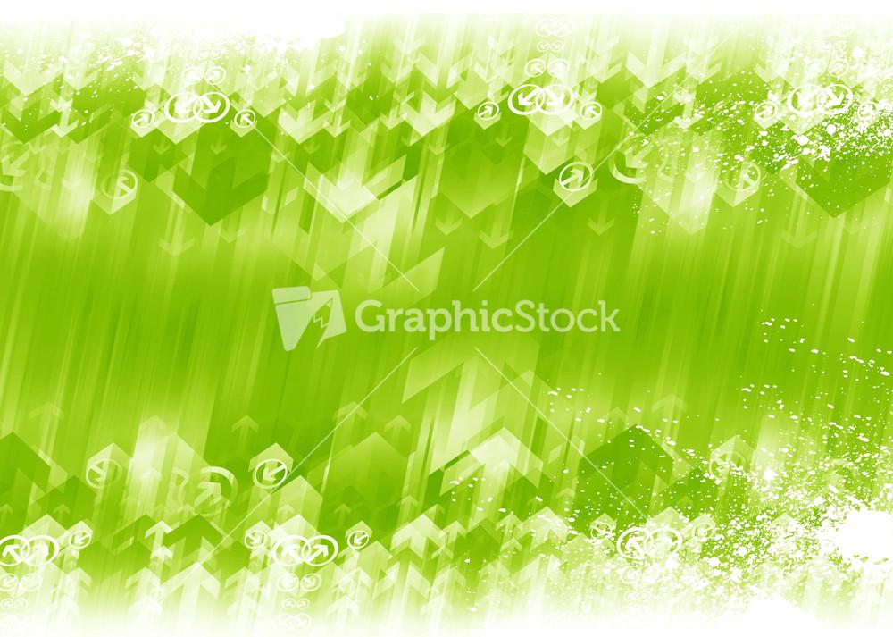 Green Arrows Background