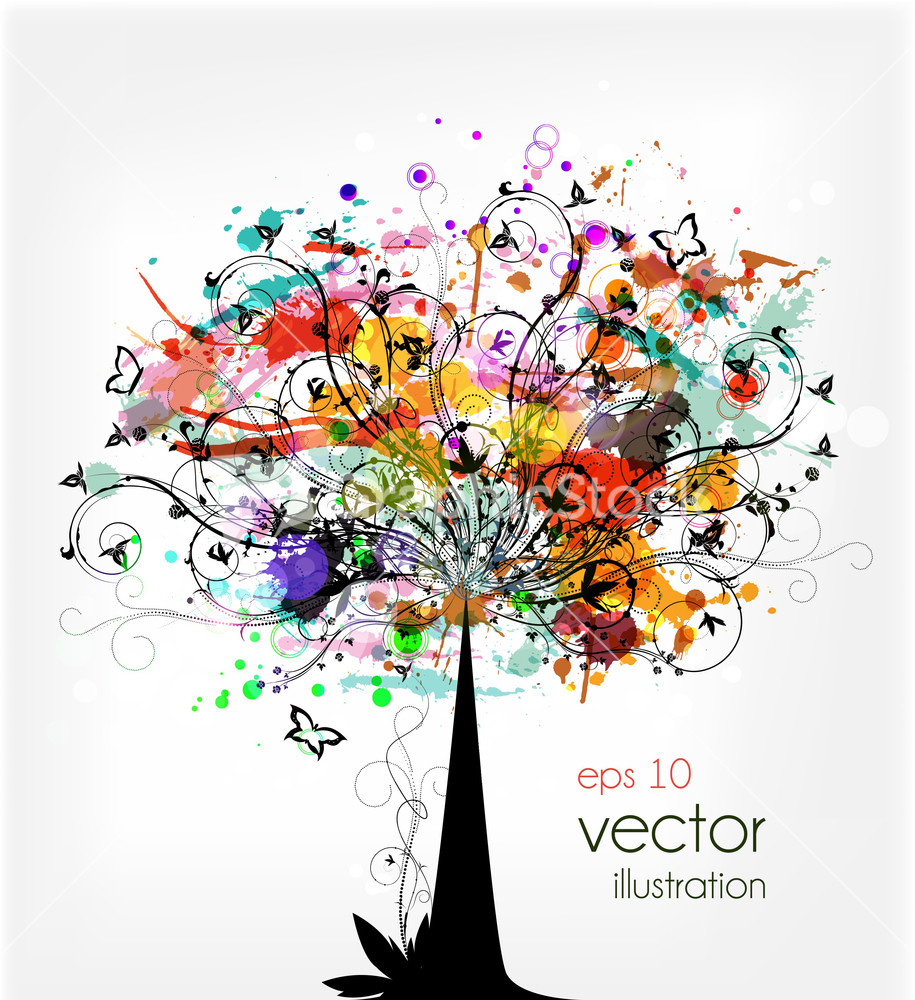 Download Royalty Free Tree Vector GraphicStock Stock Image