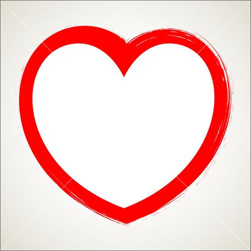 Grunge Valentine Heart Vector Shape Stock Image