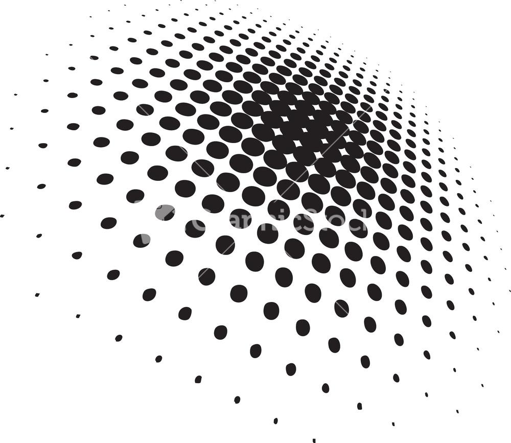 Line Art Vs Halftone : Halftone vector element