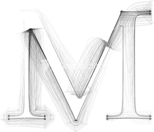 hand draw font letter h vector illustration