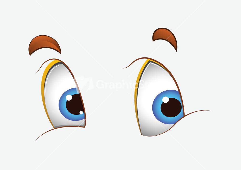 how to draw a cartoon happy eye