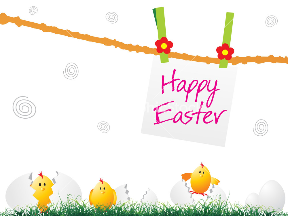 Happy Easter Day Background Stock Image