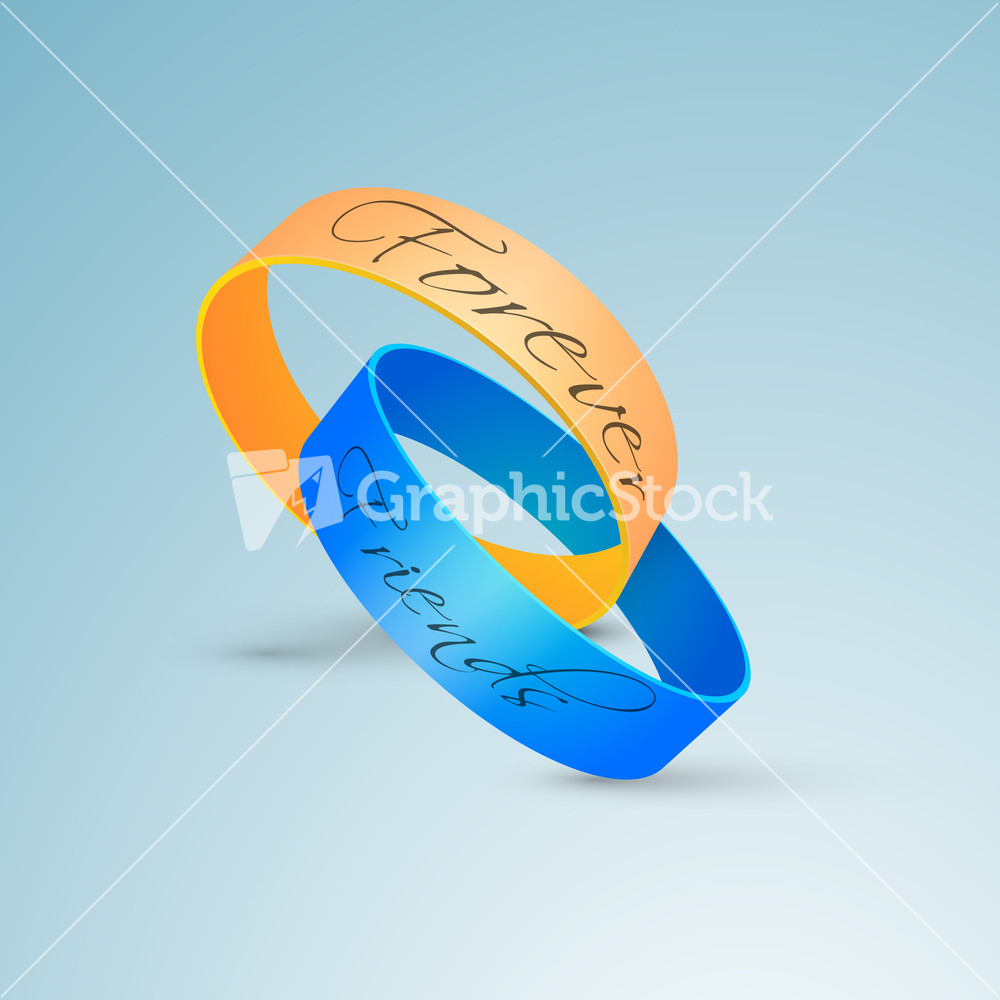 Happy Friendship Day Background With Friendship Bands On