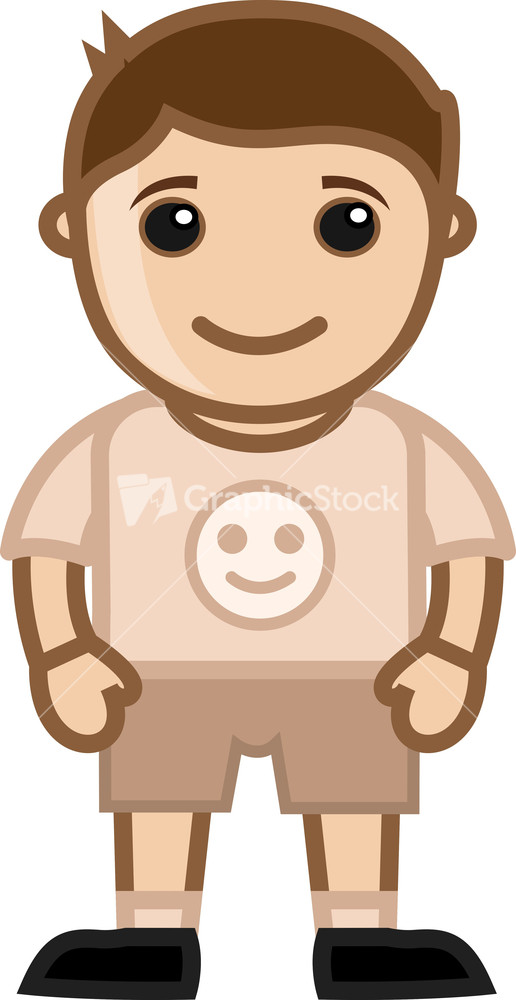 happy kid vector character cartoon illustration - Cartoon Kid Images
