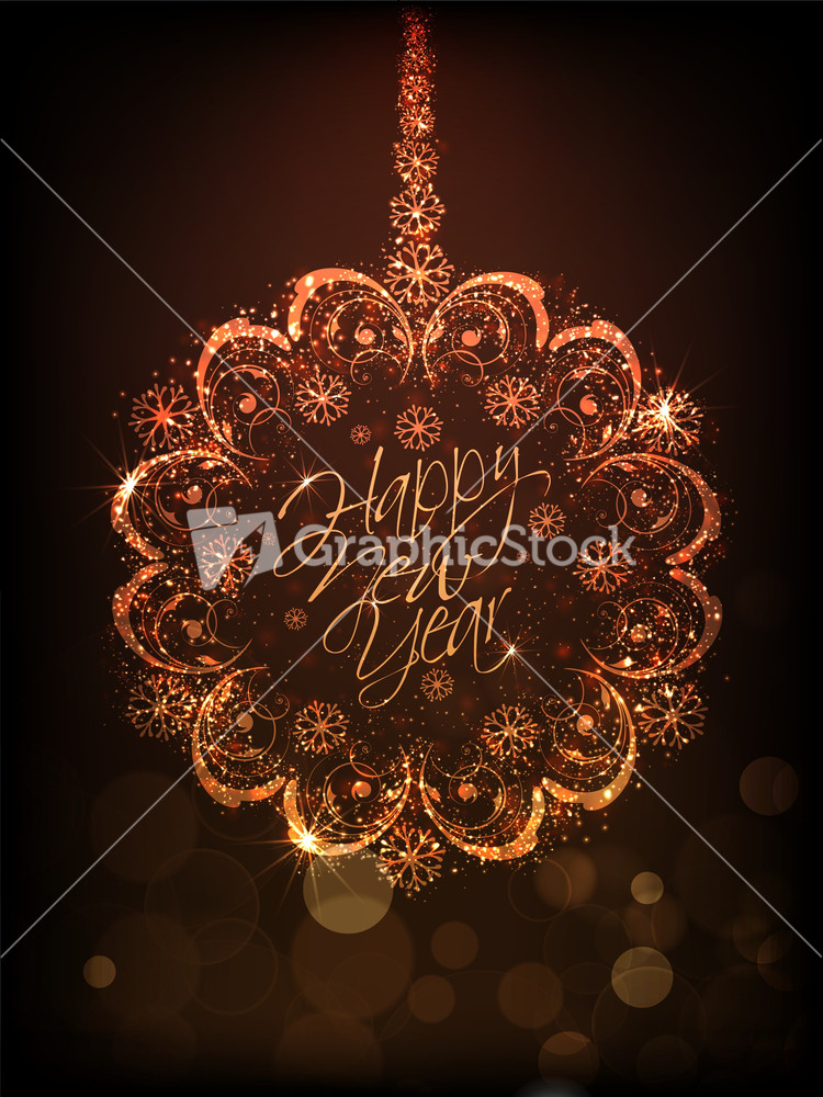 Happy New Year 2014 Celebration Background - GraphicStock