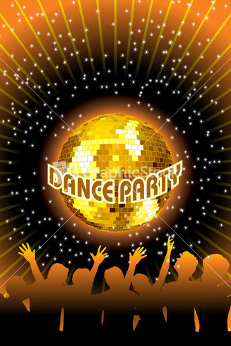 Template Flyer And Background For Dance Party With ...