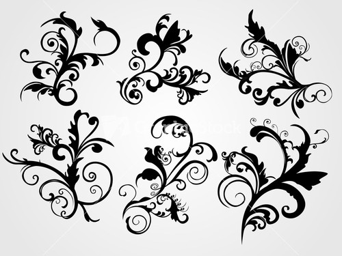Black creative filigree pattern tattoo for Swirl tattoo designs