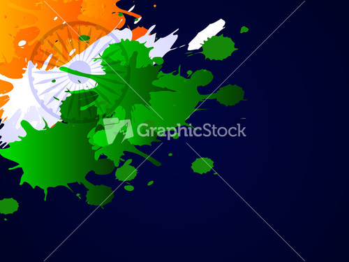 Indian Flag Theme: Soldier Silhouette On Indian Flag Nature Background