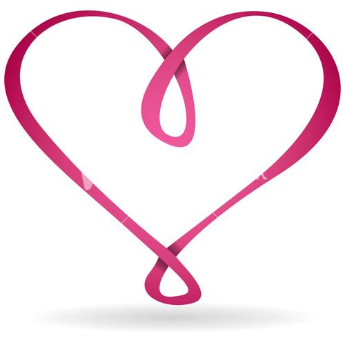 Vector infinity heart