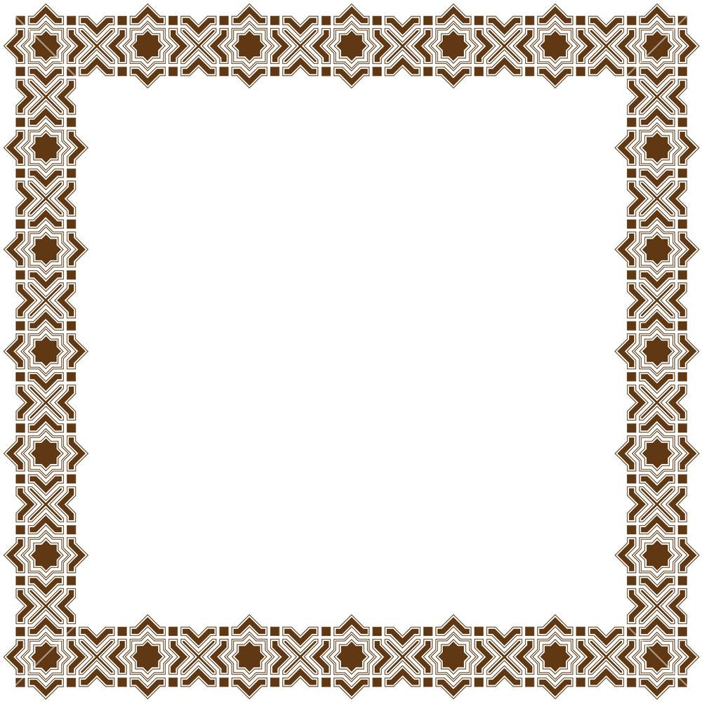 Islamic frame border psd joy studio design gallery best design for Border psd