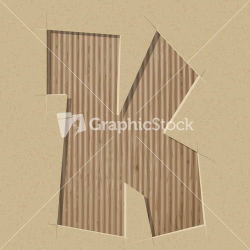 Number 4 cut out on a cardboard vector paper alphabet for Alphabet letters cardboard