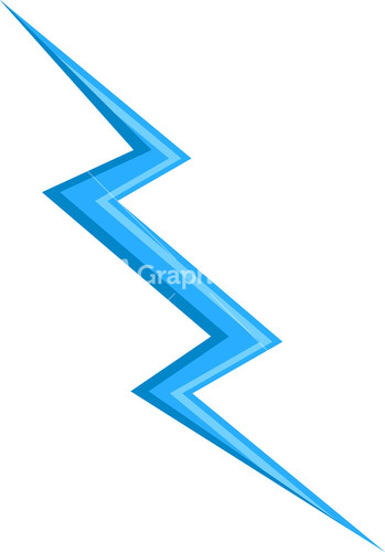 Design element of thunder for Lightning link template