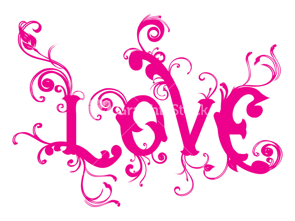 Love Background With Lovely Swirl Design Stock Image