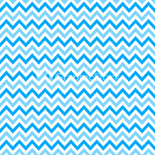 Blue and white chevron shower curtain