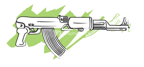 machine gun drawings - photo #26