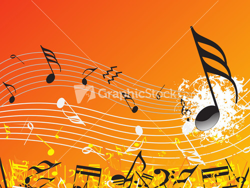Music Waves With Notes And Cd