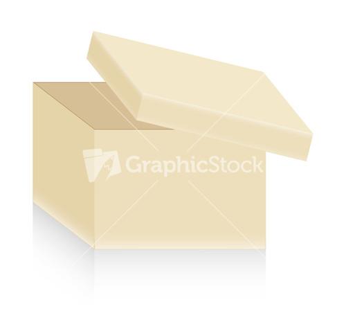 White Open Gift Box