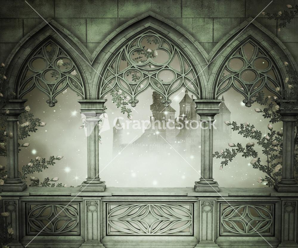 Palace interior background