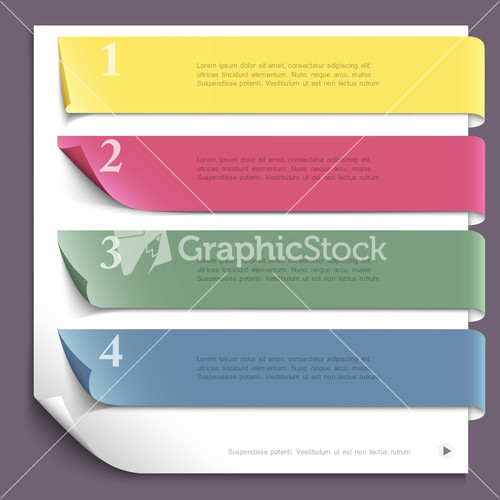 White Paper Infographic Background Design Template Vector – Paper Design Template