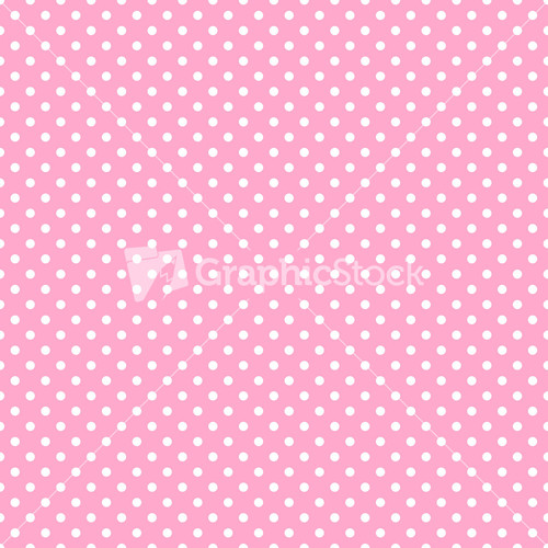 Pink And Grey Polka Dots Pattern On A White Background ...