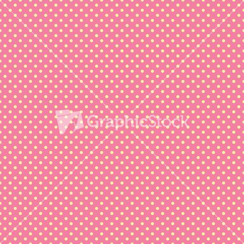 Yellow and pink polka dots