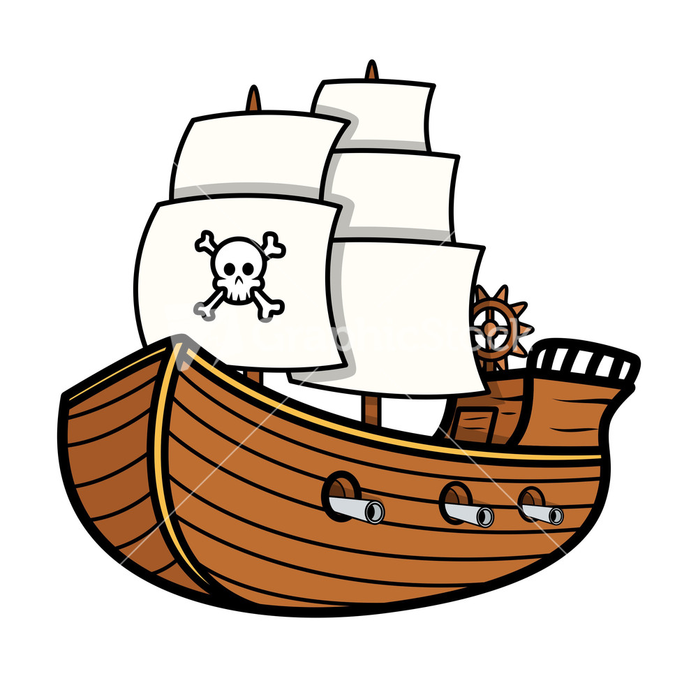 Pirate Ship Vector Stock Image