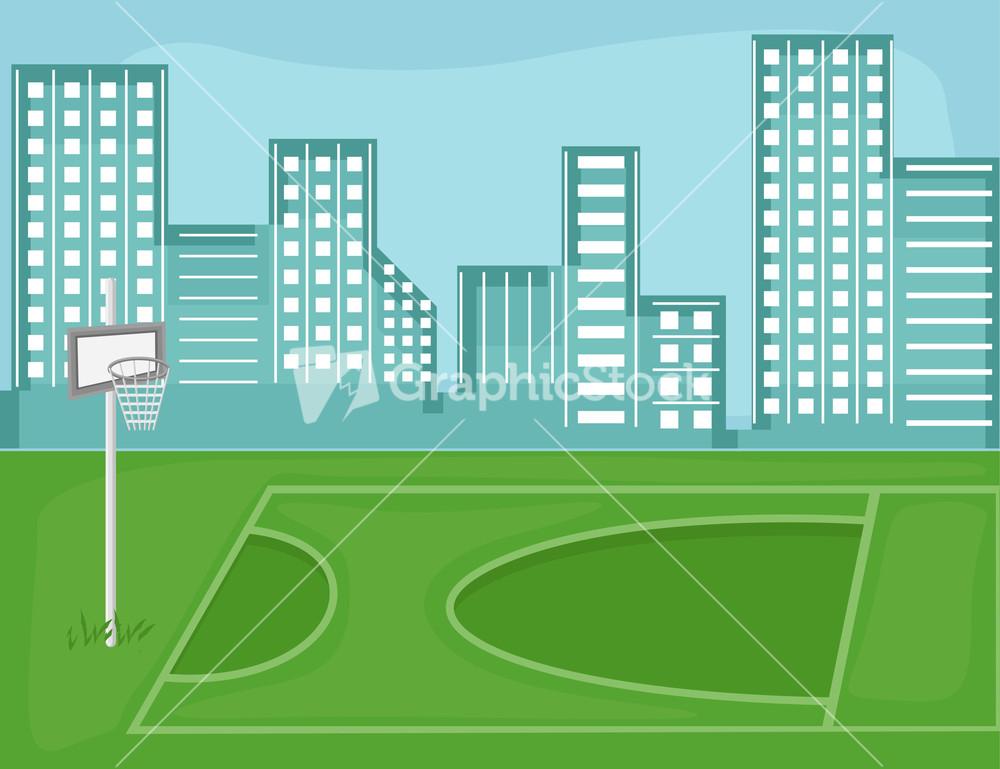playground cartoon background vector stock image