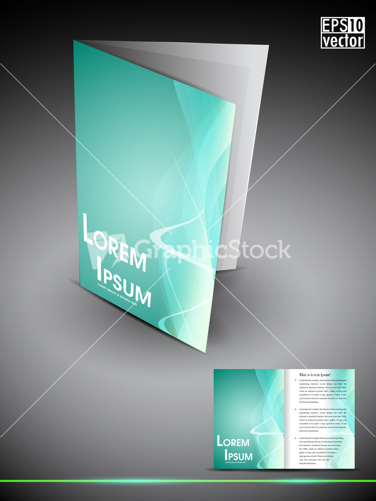Professional 3d business flyer template or corporate for 3d brochure template