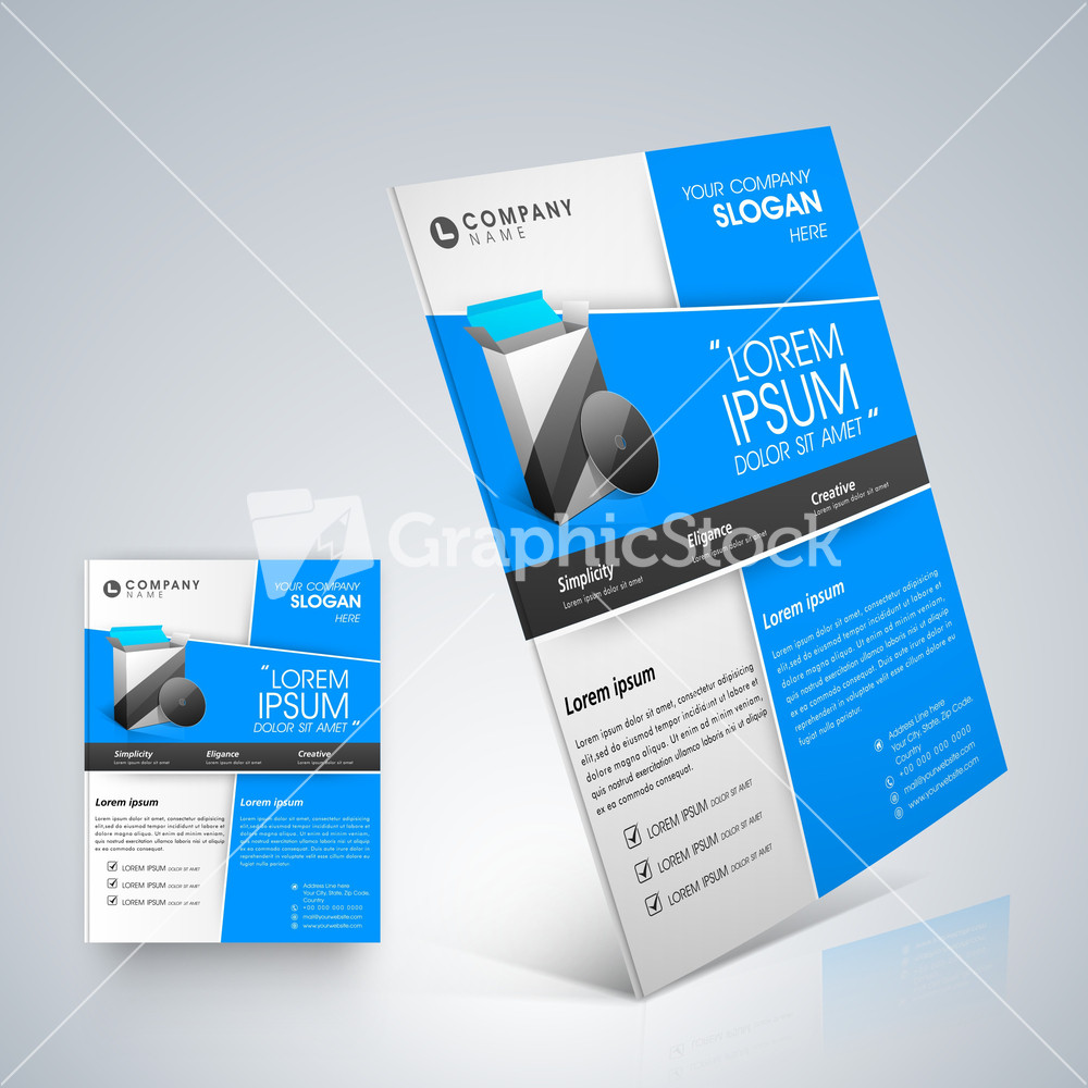 professional business flyer template professional business flyer template stock image