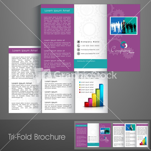 Professional Business Three Fold Flyer Template Image – Three Fold Flyer Template