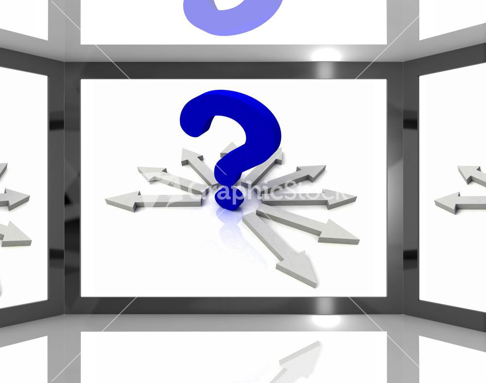 Pics photos clip art cartoon scientist with question mark stock - Subscription Library Question Mark On Screen Shows Questions Tv Show