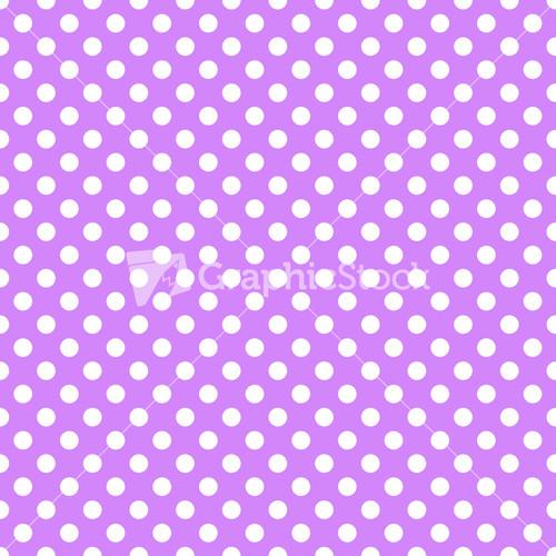 white polka dots pattern on a light purple background