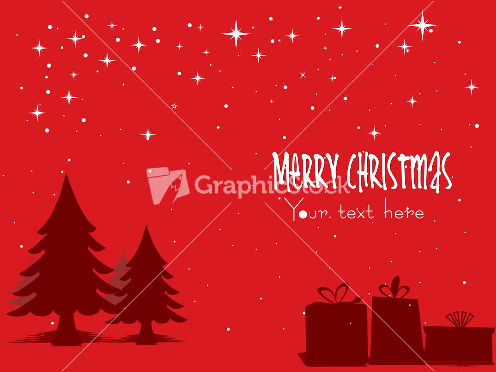red christmas tree background - photo #46