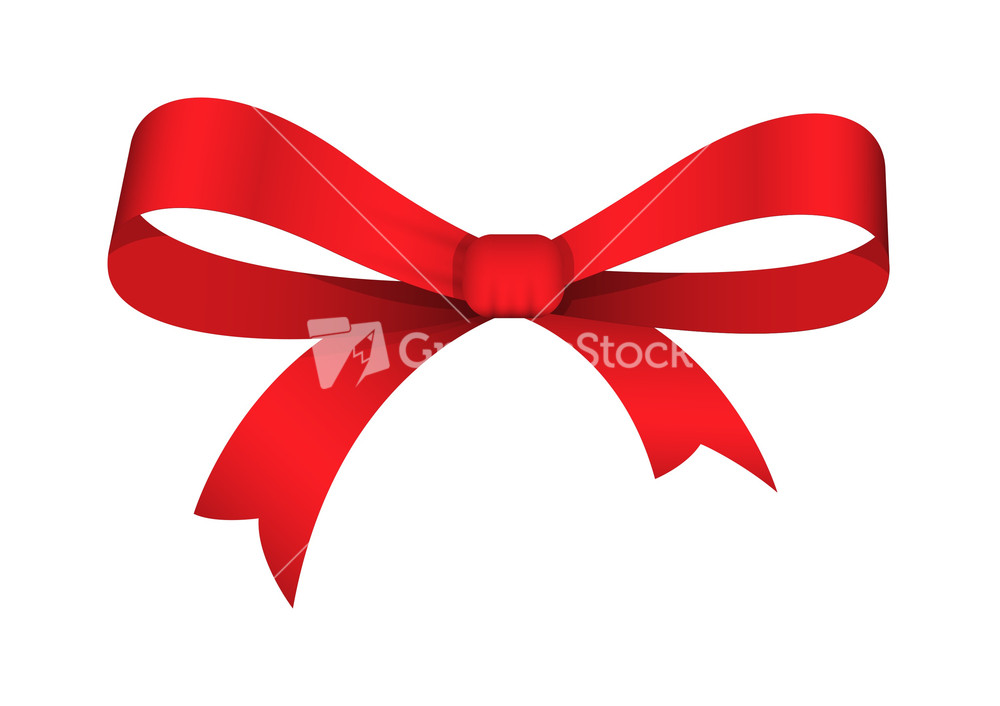 Red Ribbon Bow Vector Stock Image