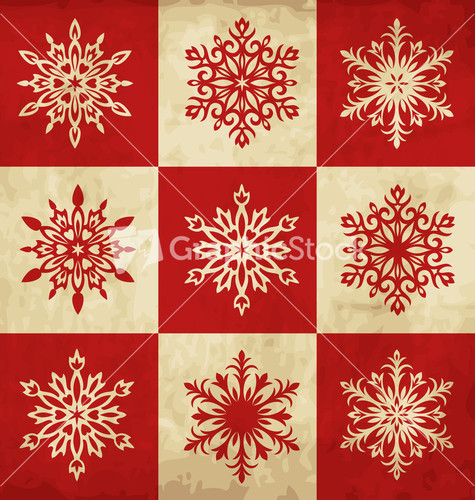 retro christmas design stock image
