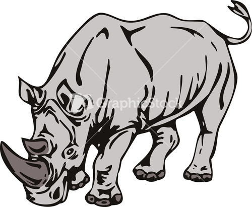 Rhinoceros Royalty-Free Vectors, Illustrations and Photos