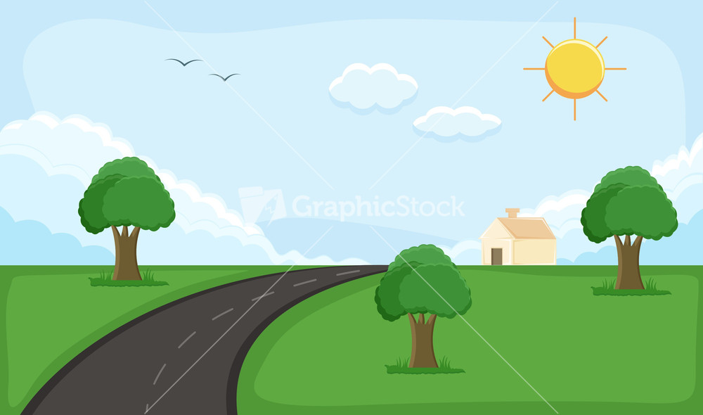 rural background cartoon background vector stock image