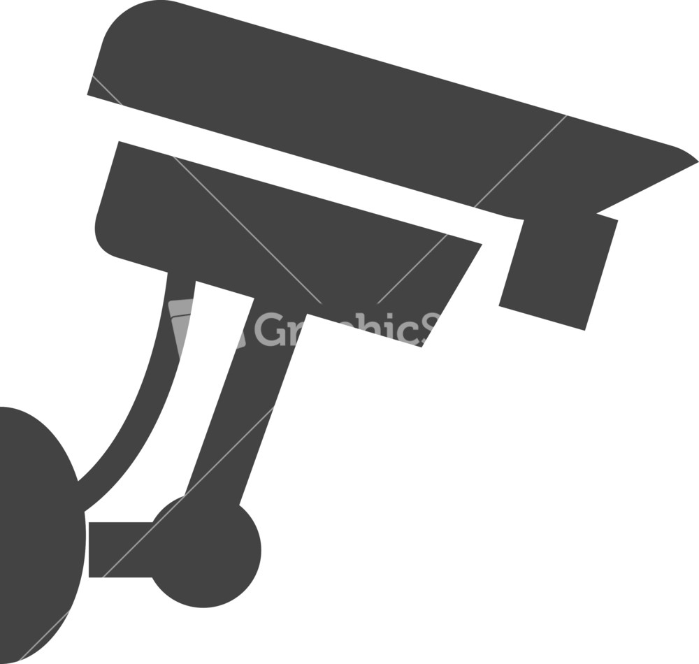 Security Camera Glyph Icon Stock Image