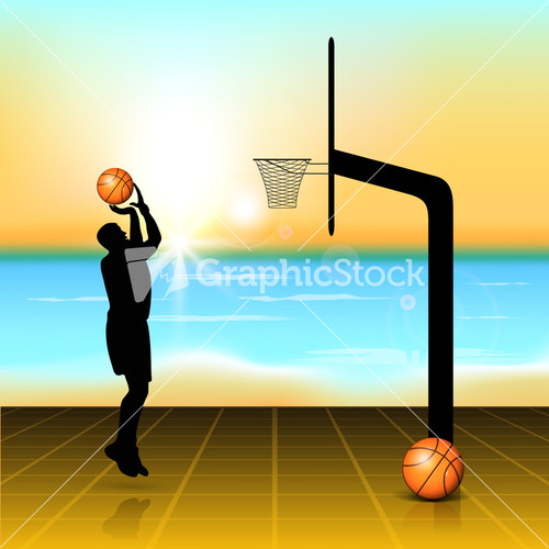 Basketball Court Silhouette