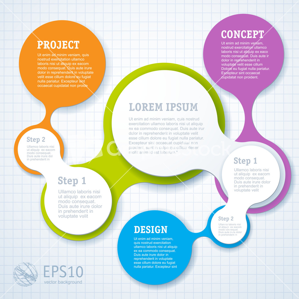 Minimal Infographic Template Design. Vector.