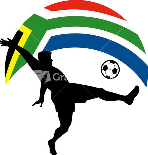 Soccer player kicking ball sketch