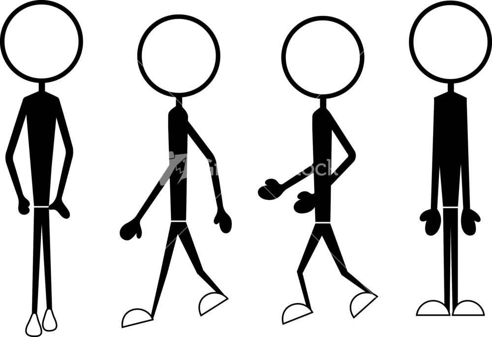 Business Man Illustration Stick Figure Drawing