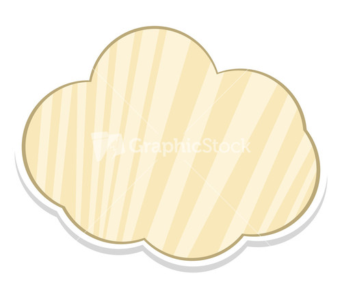 striped cloud banner