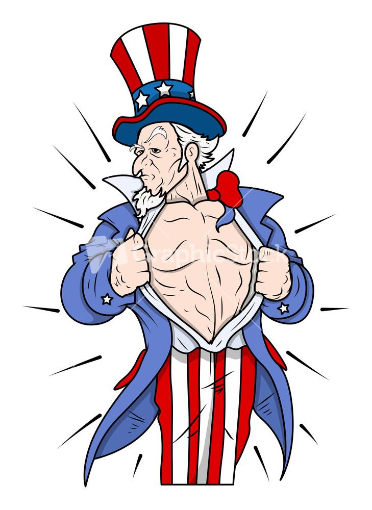 Celebration Uncle Sam Cartoon Vector