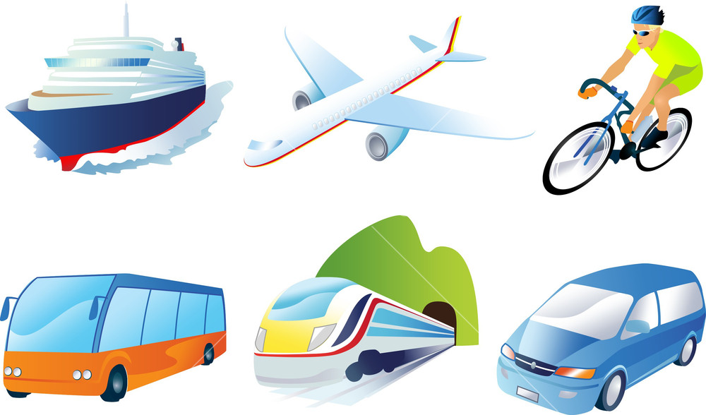travel transportation royalty free vectors