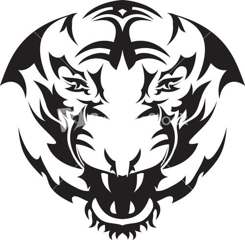 tribal tiger head