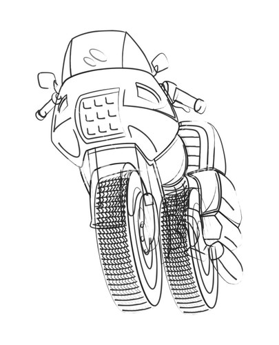 vector drawing of sports bike - Sports Drawing Pictures