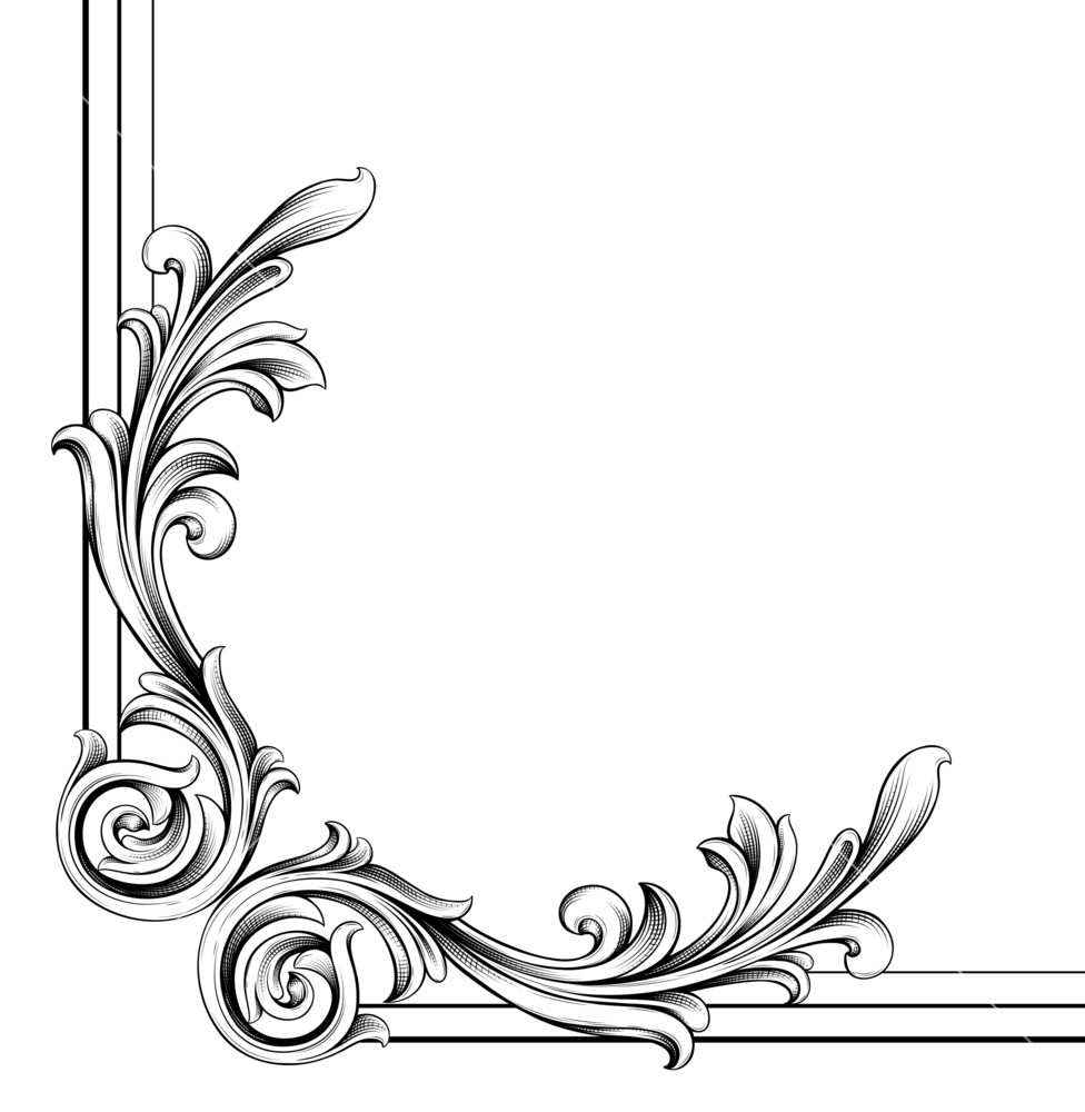 Https Www Graphicstock Com Stock Image Vector Engraved Floral Corner