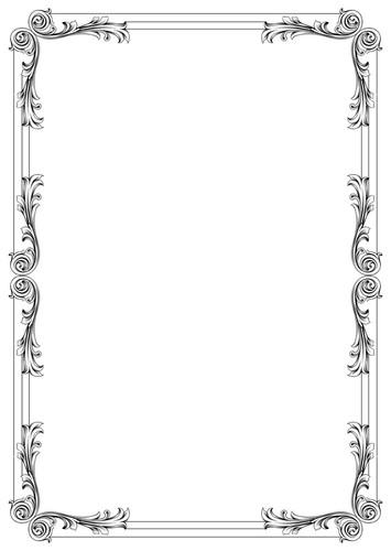 vector engraved floral frame